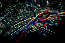 Abstract Spiderman CANVAS PRINT FRAMED choose size