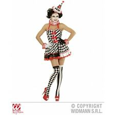 Ladies Womens Pierrot Girl Costume Outfit for Circus Clown Fancy Dress
