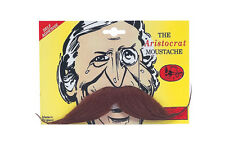 Aristocrat Tash Moustache for Victorian Edwardian Dickensian Fancy Dress