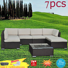 Wicker Rattan Outdoor Sofa Lounge couch Setting Garden Set Indoor Furniture