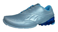 Puma Cell Akila L Womens Leather Running Trainers / Shoes - Silver - 2308
