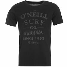 ONeill Arc Short Sleeve T-Shirt Mens Black Top Tee Shirt