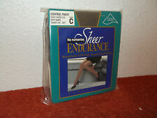 NEW NO NONSENSE SHEER ENDURANCE CONTROL TOP  PANTYHOSE in CITY TAUPE COLOR