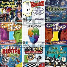 BRAIN GAMES Quizzes Trivia Teasers & More PC Windows XP Vista 7 8 10 NEW Sealed