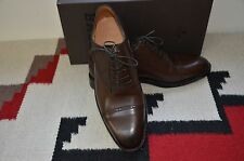 Bally Scribe Hand Made in Switzerland Atos Moka Brown Calf Leather Dress Shoes