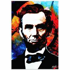 Mark Lewis 'Abraham Lincoln Knowing Lincoln' Limited Edition Pop Art Print on Me
