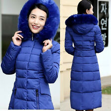 Winter plus size warm lady Parka long Fur Collar Hooded Down Coat Quilted Jacket