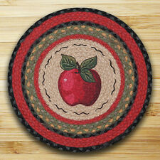 Red Apple Braided Jute Round Placemats