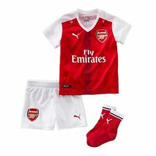 Puma Arsenal Home Kit 2016 2017 Infants Red/White Football Soccer Jersey Shorts