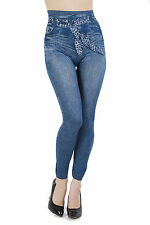 Girls Leggings Denim Jeans With Faux Sash Jeggings Childrens Fashion Ages 8-16yr