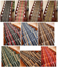 Striped Long Cut to Measure Any Length Stair Carpet Runner Rug Sold Per Metre