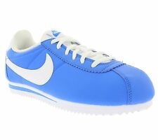 NEW NIKE Classic Cortez Nylon Shoes Children Trainers Blue 749493 401