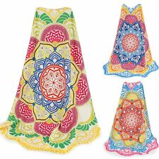 Women Polygon Mandala Beach Scarf Pareo Yoga Mat Bikini Cover up Sun Shawl Wrap