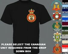 UNITS N TO Z ROYAL CANADIAN ARMY INFANTRY CORPS AIR FORCE NAVY T SHIRT XSTO5XL