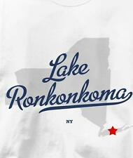 Lake Ronkonkoma, New York NY MAP Souvenir T Shirt All Sizes & Colors