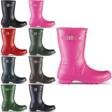 WOMENS HUNTER WELLINGTON BOOTS ORIGINAL SHORT SNOW WELLIE 8 COLOURS LADIES 3-8