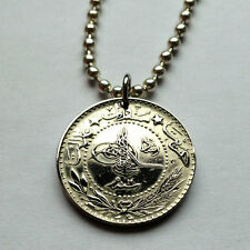 Turkey 10 para coin pendant Turkish necklace Tughra Ottoman Istanbul n001007