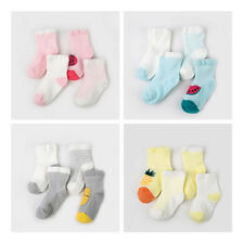 4 Pairs Newborn Infant Toddler Baby Kids Boys Girls Breathable Cartoon Socks New