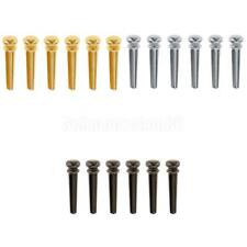 18 Pcs Metal Brass Bridge Pins End PIN Set Polishing für Acoustic Guitar 3 Farbe