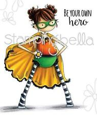 New Stamping Bella Cling Rubber Stamp Tiny townie HAYLEY THE SUPERHERO