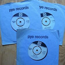 """STATUS QUO Collection PYE JOB LOT 3 x 7"""" 45 MEAN GIRL / DUSTPIPE / IN MY CHAIR"""