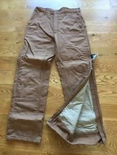 Carhartt Mens Canvas Insulated Work Pants Quilt Lined Flame Resistant FRB194