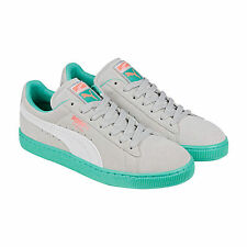 Puma Suede Classic+ LFS Mens Grey Green Suede Lace Up Sneakers Shoes