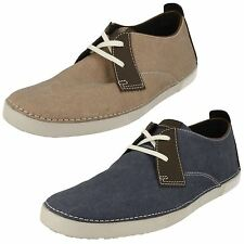 'Mens Clarks' Rounded Toe Casual Lace Up Shoes - Neelix Vibe