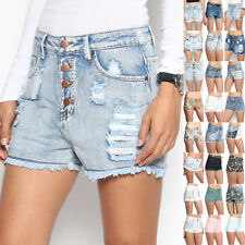TheMogan Vintage Washed Ripped Distressed High Waisted Denim Shorts Jean Hotpant