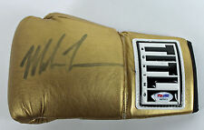 Mike Tyson Authentic Signed Gold Title Boxing Glove Autographed PSA/DNA ITP