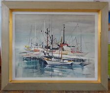 Signed Peter Haworth (1889-1986) Canadian Mixed Media Painting on Panel