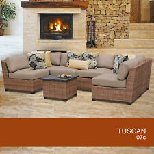 Tuscan 7 Piece Outdoor Wicker Patio Furniture Set 07c