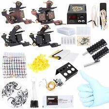 Complete Tattoo Kit 40 Color Inks Power Supply 2 Machine Guns Shader Liner AUS