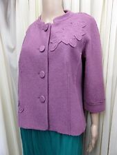 STUNNING FENN WRIGHT MANSON LAVENDER LINED JACKET WITH 40% WOOL SIZE 14