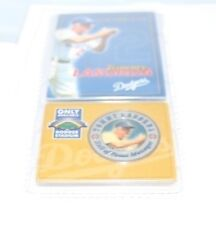 Tommy LaSorda Los Angeles Dodgers Commermative Dodger Stadium Giveaway Card Coin
