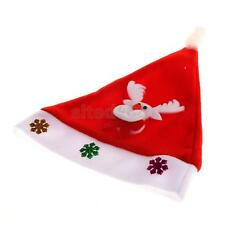 Santa Claus Christmas Tree Party Hat Holiday Winter Costume Cap Kids Adult Decor