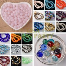 Wholesale 10/100pcs 12X8mm Faceted Rondelle Crystal Glass Loose Spacer Beads