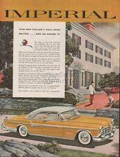 1955 Imperial Coupe Chrysler Motors Classic American Car Photo Automobile Ad