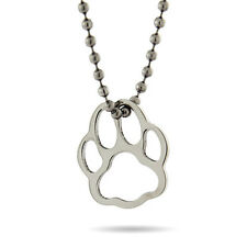Stainless Steel Pawprint Pendant - Clearance -18 inches