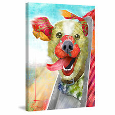 Marmont Hill - 'Breezy Dog II' by Connie Haley Painting Print on Wrapped Canvas