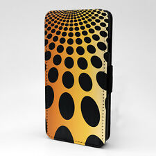 Polka Dots Print Design Pattern Flip Case Cover For Apple iPhone - P329