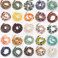 1Bunc Mixed Nature Gemstone Loose Spacer Delicate Bead Jewelry 4/6/8/10/12mm 15""