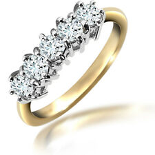 Jewelco London 18ct Gold Diamond 5 Stone Eternity Ring 75pts