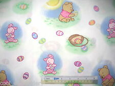 Winnie the Pooh Tigger Eeyore Piglet cotton quilting fabric *Choose design size