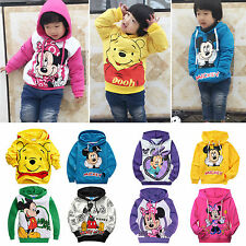 Kids Boys Girls Cartoon Cute Mickey Minnie Mouse Cotton Hoodies Sweatshirt Coat