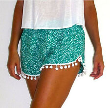 Brand New Womens Beach Mini Shorts Sexy Floral Print High Waist Cute Ball edge