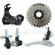 SHIMANO 3 (2) x 7 Speed Road Groupset 4 pcs,Down-Tube, RD W/Hanger