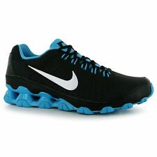 Nike Reax 9 Training Shoes Mens Black/White/Blue Fitness Trainers Sneakers