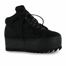 Jeffrey Campbell Darth Hi Top Platform Shoes Womens Black Trainers Sneakers