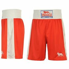 Lonsdale Boxing Shorts Mens Red/White Fight Gym Training Sportswear